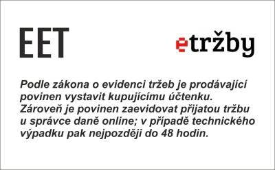 EET označenie prevádzky - obchodPECIATOK.sk