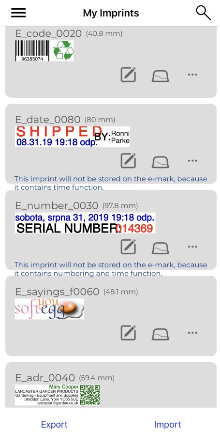 vzory reálných otisků razítka colop e-mark || obchodPECIATOK.sk