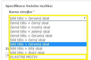 vlastní imagecard || obchodRAZITEK.cz
