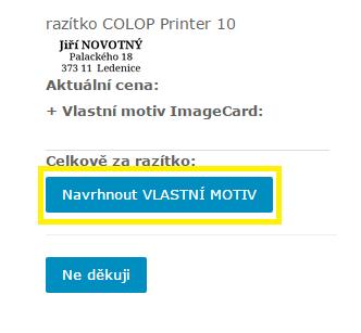 potvrzení vlastního motivu - image kartičky || obchodRAZITEK.cz