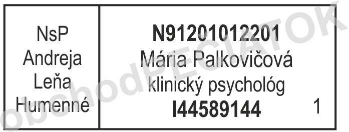 pečiatka pre lekára || obchodPECIATOK.sk