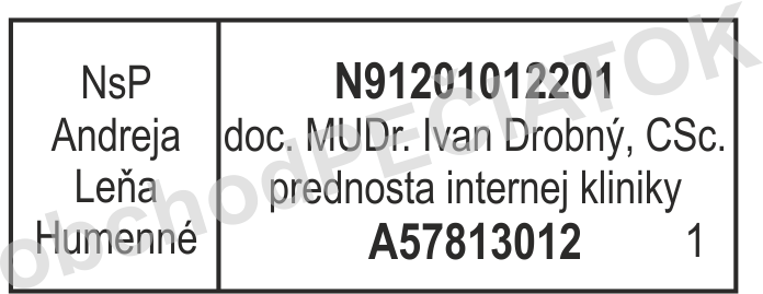 pečiatka pre lekára - prednosta, primár || obchodPECIATOK.sk